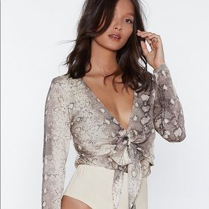Nasty gal snake body suit NWT